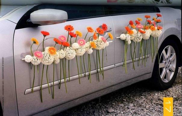 Оформить машину на свадьбу своими руками