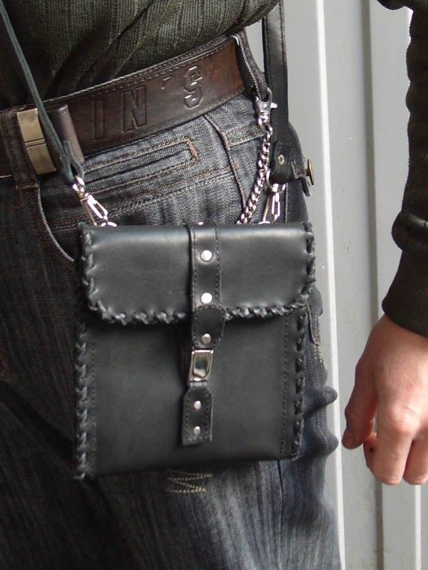 Кожаная поясная сумка мужская своими руками