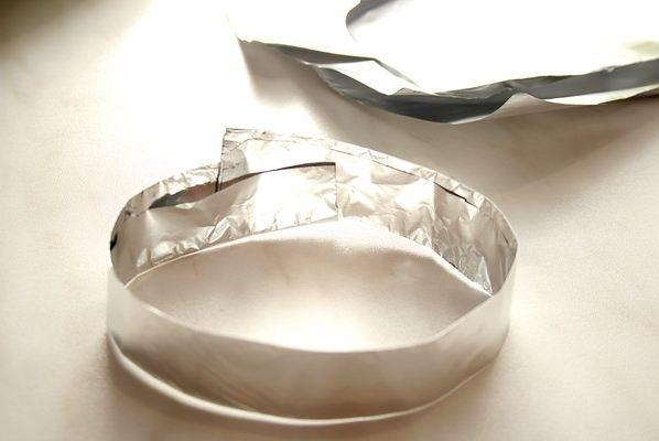 Как сделать тарелки из фольги