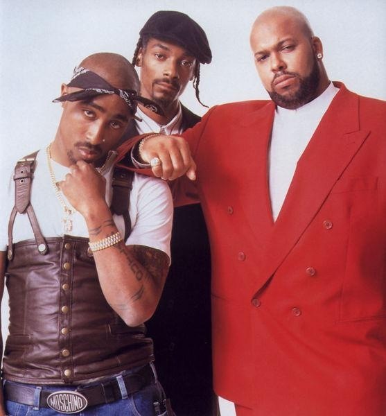 Tupac, Snoop Dogg and Suge Knight