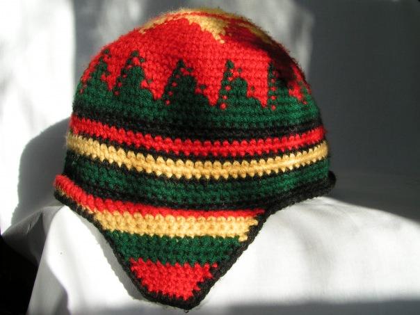 Раста шапка зимняя.