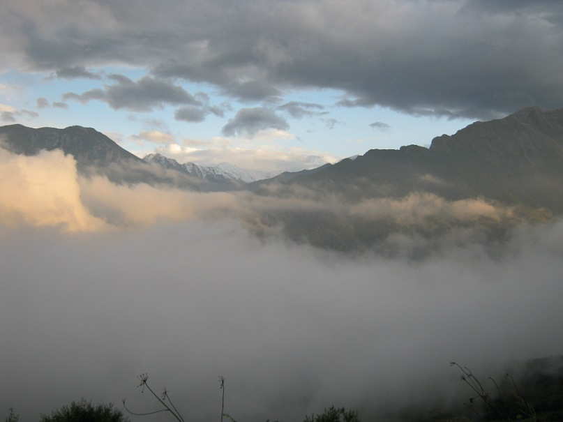 Облака по пути в Кобань (в Северной Осетии)