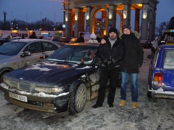 BMW E38 Club - мосты Москвы и Кишинева)Встретились с Раду(Djafar740) на московской земле)