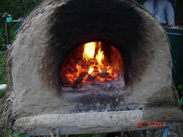 Печь в полумраке