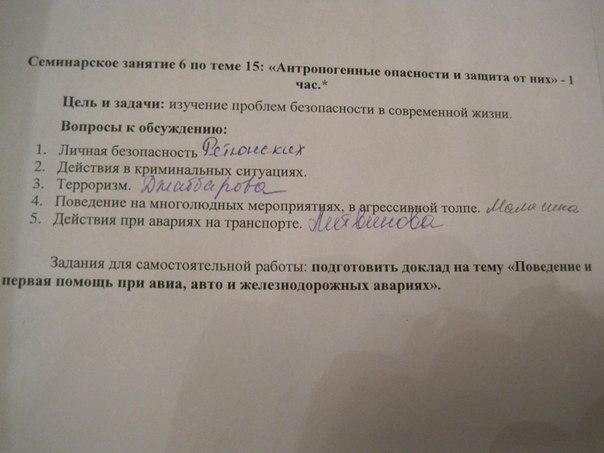 Институт МНЮИ Экономисты год ВКонтакте ОБЖ