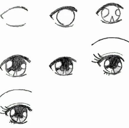 Как рисовать глаз аниме девушки - ФотоУроки - Каталог статей