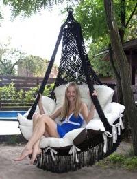 """Фото: Подвесной гамак-кресло  """"CARTAGENA """" black Стоимость: 19 800руб."""