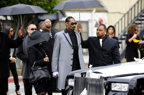 Snoop Dogg Rides In A Rolls Royce