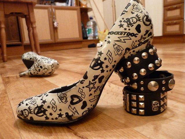 туфли с шипами, панк -туфли