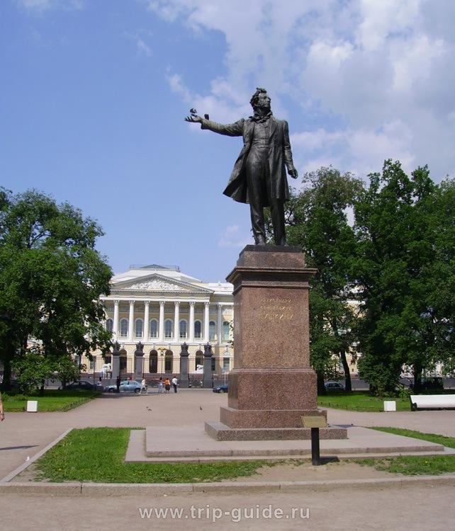 Памятник а с пушкину в санкт