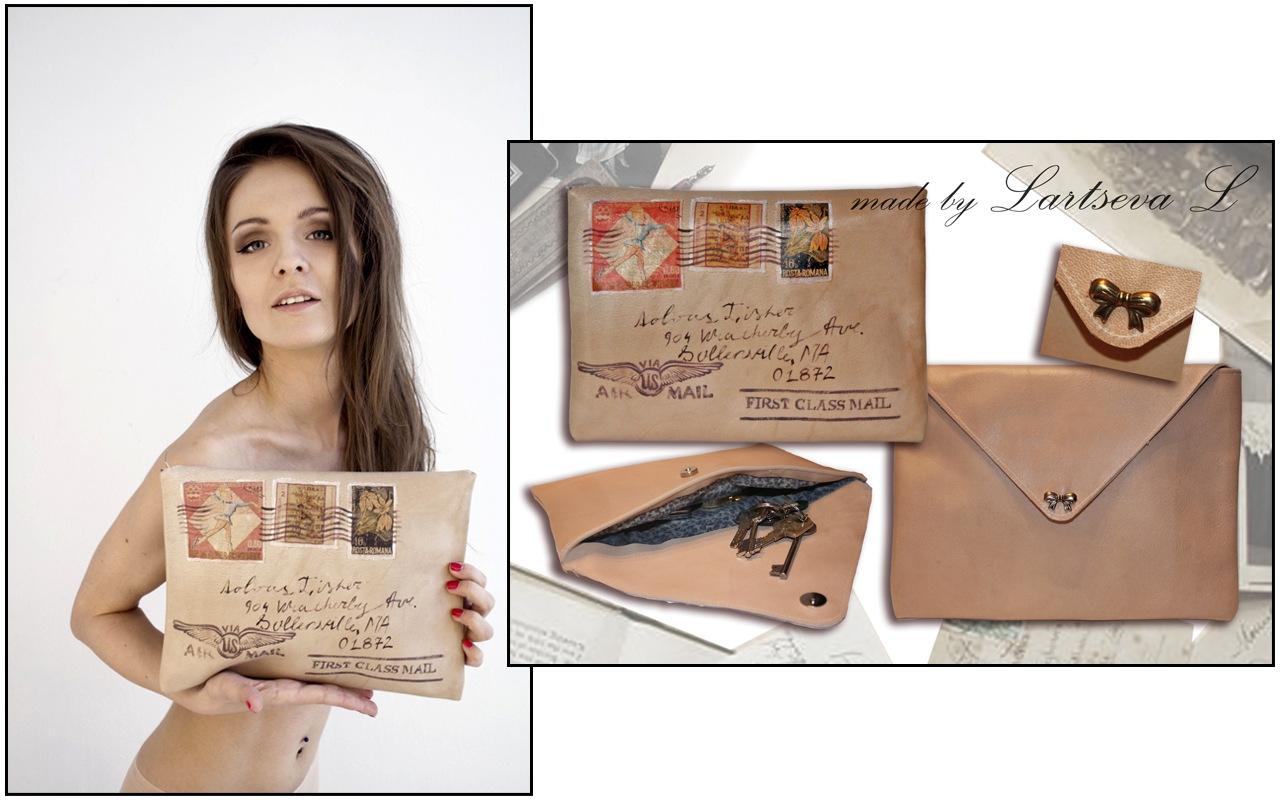 Клатч конверт из кожи своими руками 37