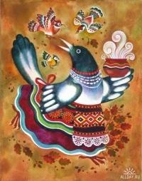 """Схема вышивки  """"Сорока-ворона """": таблица цветов."""