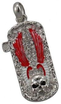 Флешка USB-Flash 4GB в стразах с черепом и крыльями. флешка USB-Flash 4GB в стразах с черепом и крыльями.