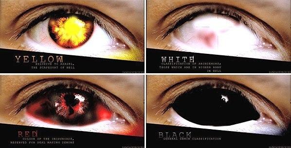 Как на фото сделать глаза как у демона