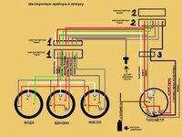 ВАЗ-2106 Данные. подключения предназначены для. схемы. приборов. мотоциклов. панели. автомобиля.  ВАЗ-2101 и его...