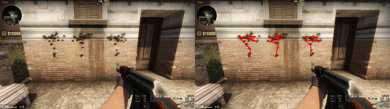 CS:GO vs. CS 1.6 - Spray