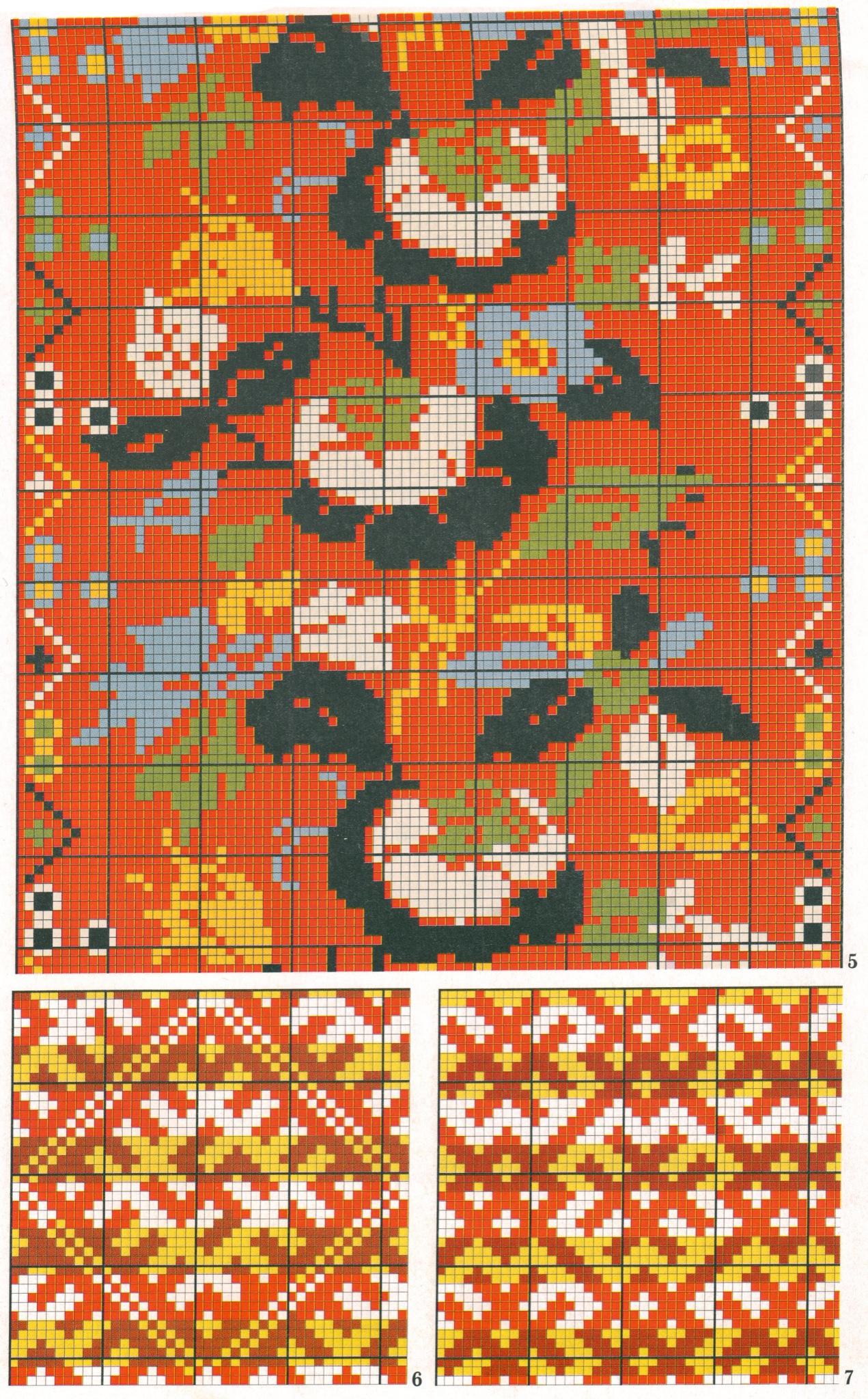 Рисунки на рукавиц схемы с цветами 10 фотография