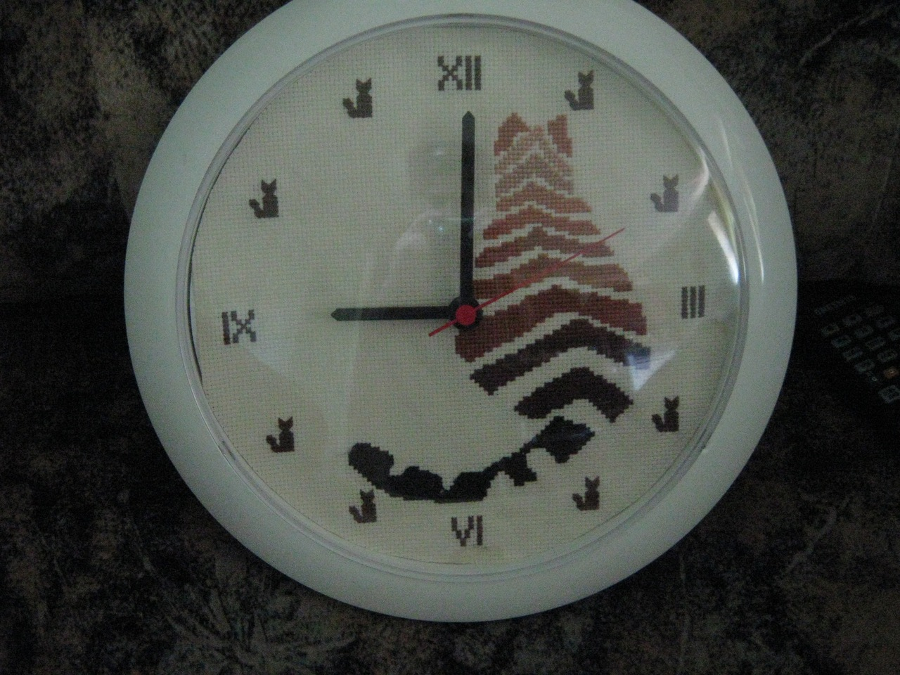 Часы своими руками вышивка