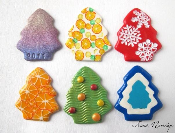 Из глины с детьми к новому году