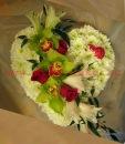 Танго пеларгония.  Букет 3 кустовые хризантемы.
