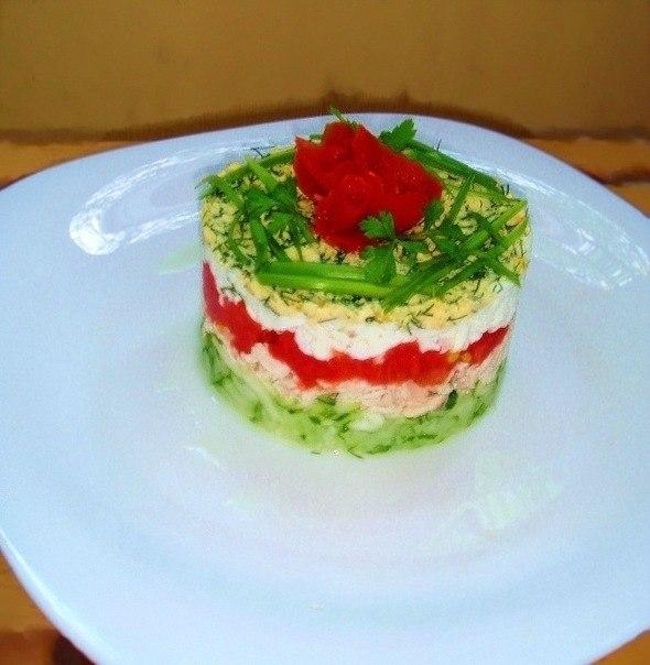 Порционные салаты рецепты простые