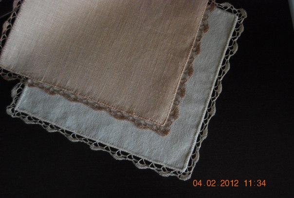 Вяжем вместе носовые платочки
