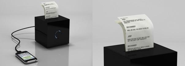 Миниатюрный принтер для распечатки SMS