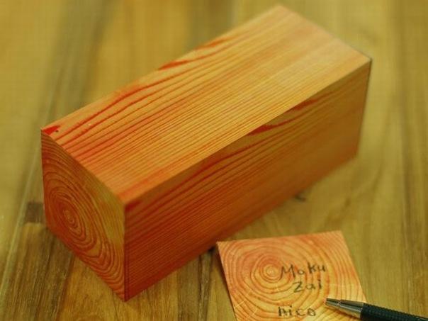 Бумажки для записей в виде деревянного бруска