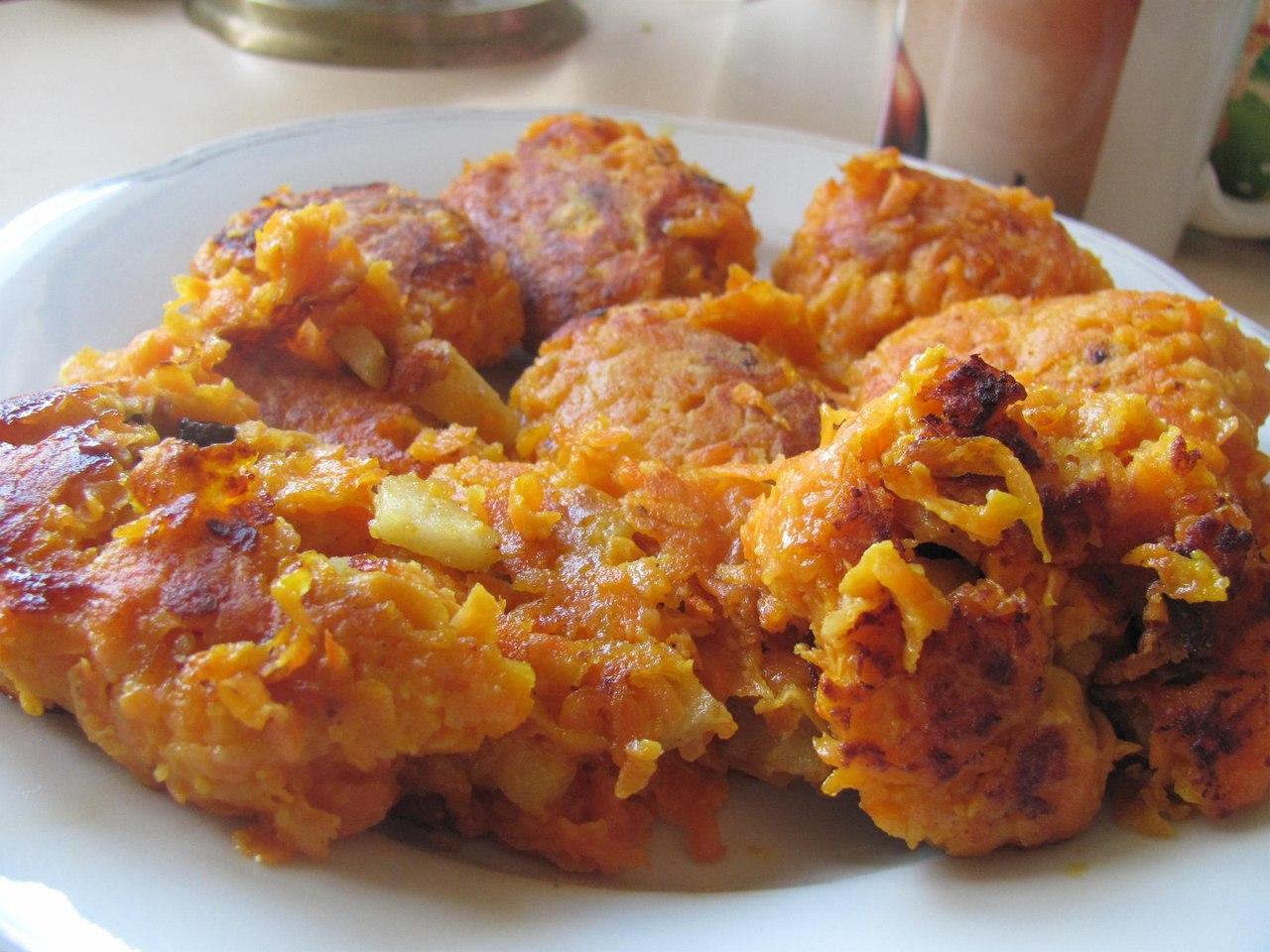 Зразы морковные с яблоками в духовке пошаговый рецепт