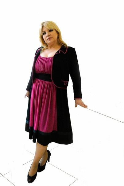 Женские платья из кореи silkline больших размеров