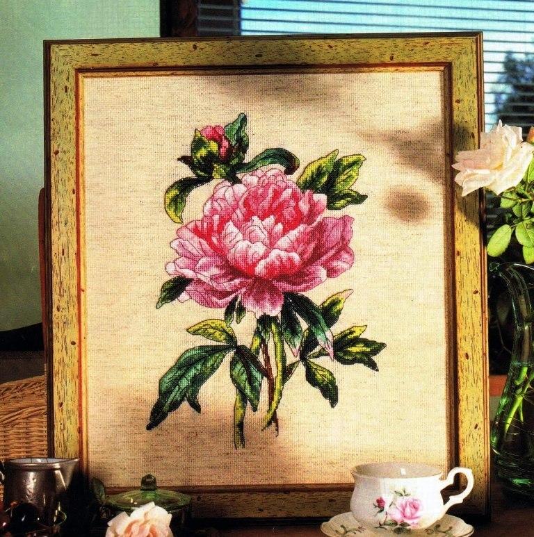 Вышивка цветы большие картины 20