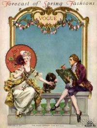 Vintage Vogue Cover Винтажные обложки Vogue первой половины ХХ века (266 работ) .