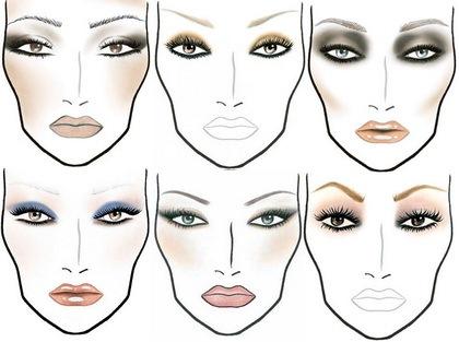 схем макияжа глаз в разных