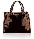 Женская сумка Chloe - превосходная натуральная лаковая кожа.