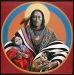 Спаситель с детьми.  Индейские христианские иконы.
