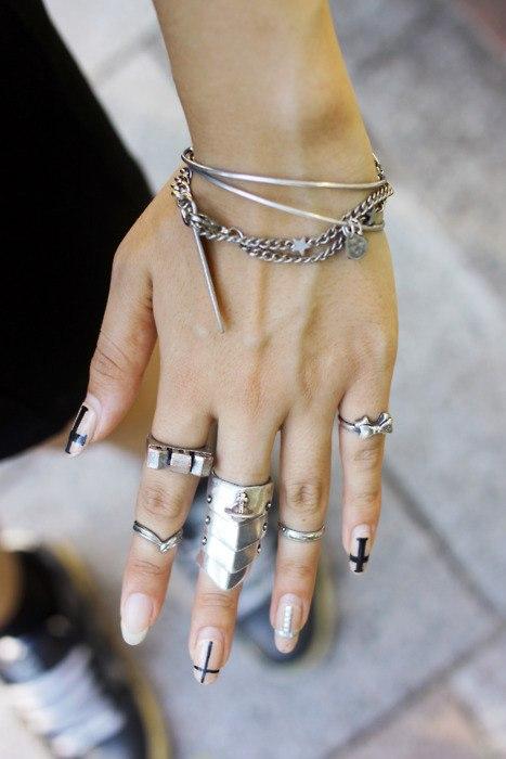 Модные кольца на руку