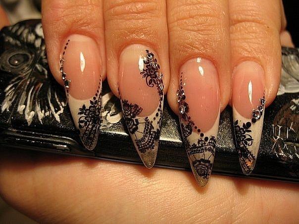 Ногти дизайн кружева