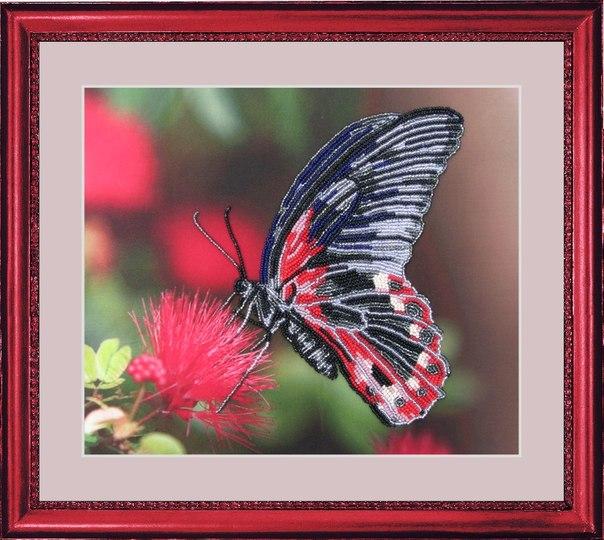 Вышивка бисером бабочка вышивка