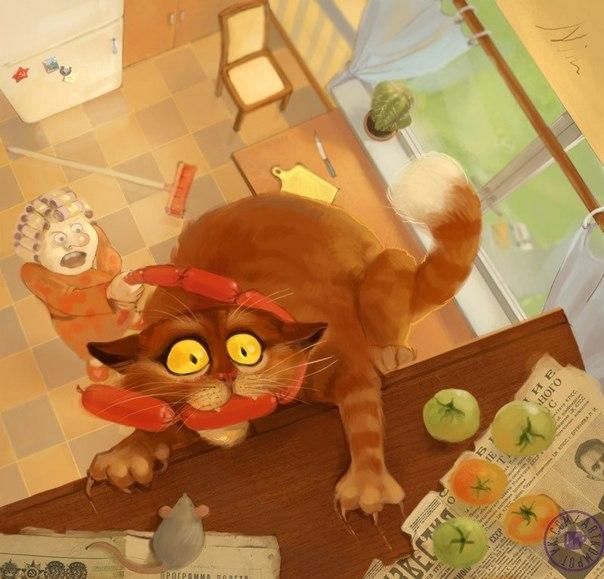 Кіт вкрав со сіську