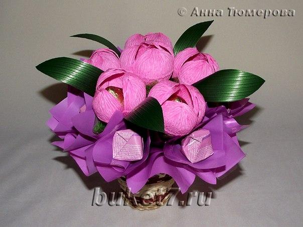 Цветы с гофрированной бумаги своими руками с