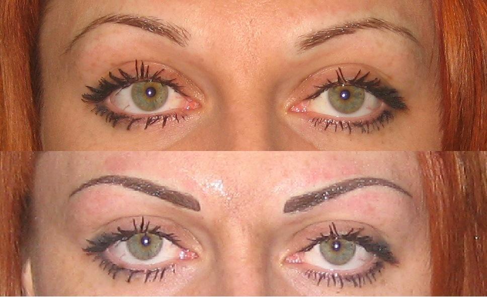 Перманентный макияж ресницы фото