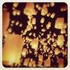 Запуск небесных фонариков на Чкаловской лестнице 14.02.12