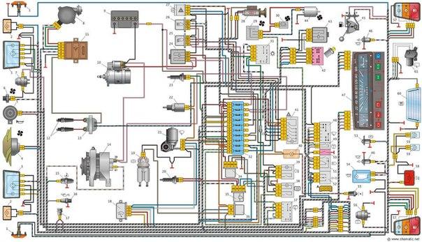 Схема электропроводки Оки.