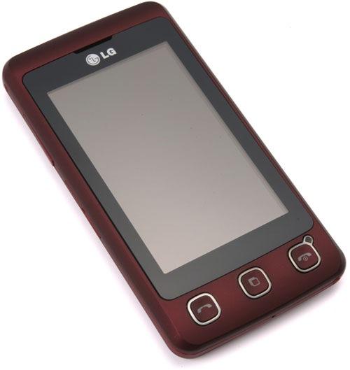 Телефон LG KP500 red - Аккумулятор - Зарядное устройство - Стерео...