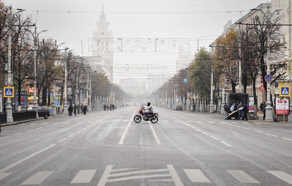 вторая часть фото или рисунок улицы воронежа лежал