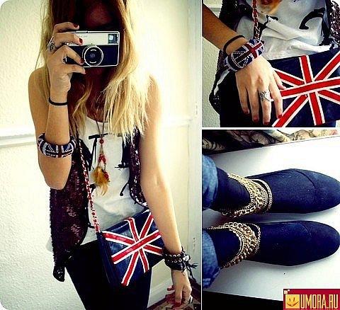 Девушки.  Великобританский флаг.  Обувь.  Категории.