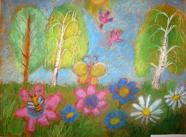 Рисунок пастельными мелками