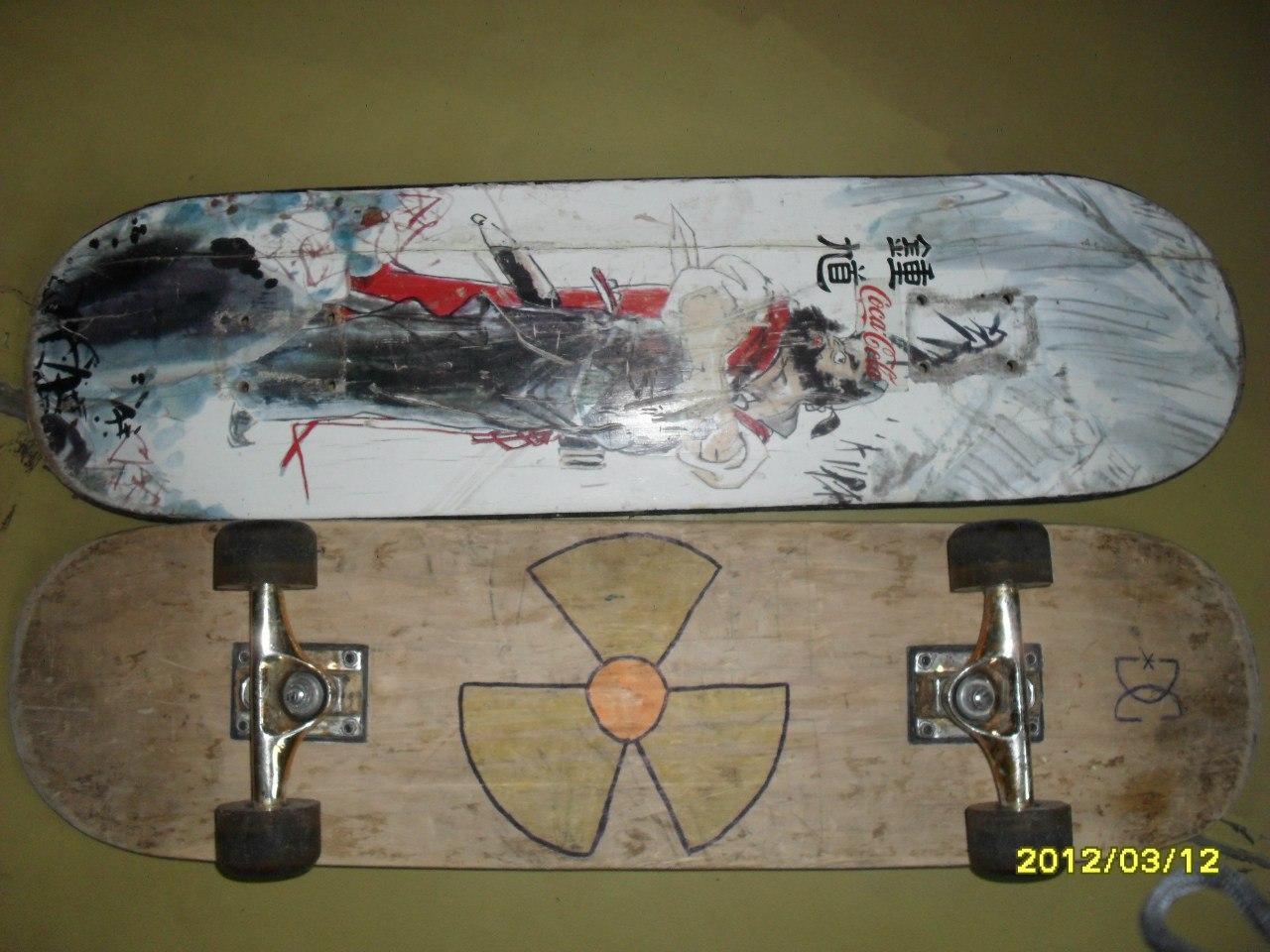 Рисунки на скейтбордах своими руками 3