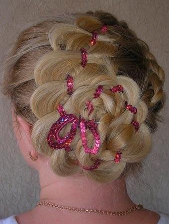 плетение волос с лентой на ютубе.