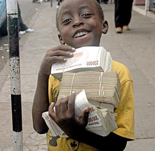 Зімбабве негр і гроші